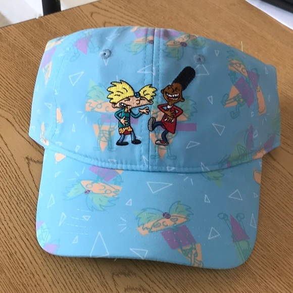 294a0075bf1 New Hey Arnold nickelodeon dad hat cap BFF friends